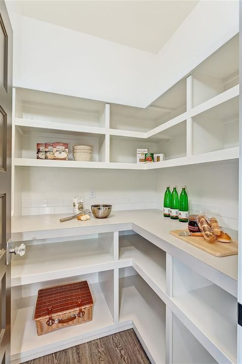 Walk in pantry shelves transitional kitchen clark and for Walk in pantry