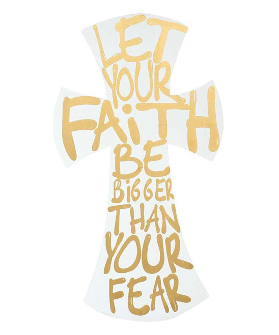 Take a look at this \'Let Your Faith Be Bigger\' Cross Wall Art today ...