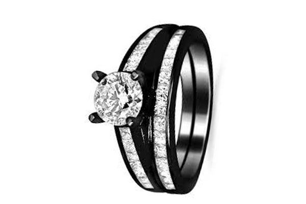 Black Wedding Rings Meaning The Symbol Of A Strong Relationship Black Diamond Wedding Rings Black Gold Black Diamond Ring Black Gold Ring