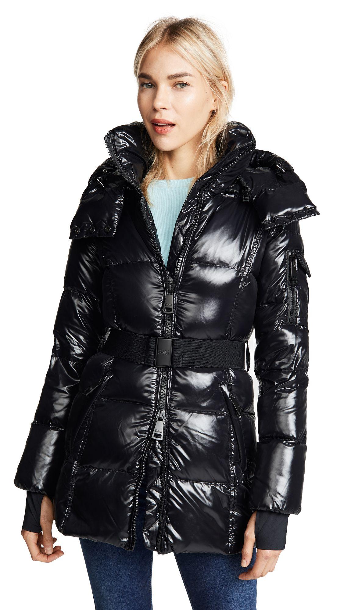 Sam Soho Long Down Jacket Shopbop Down Jacket Jackets Shiny Jacket [ 2000 x 1128 Pixel ]