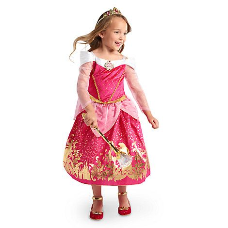 AURORA Bambina Disney Princess Costume glitter e sparkle