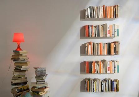 Vertical Bookshelf Floating Google Search