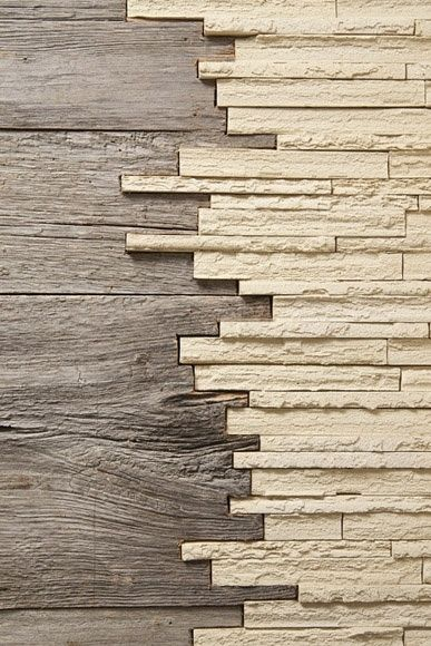 Two Different Kind Of Material Wood And Stone For The