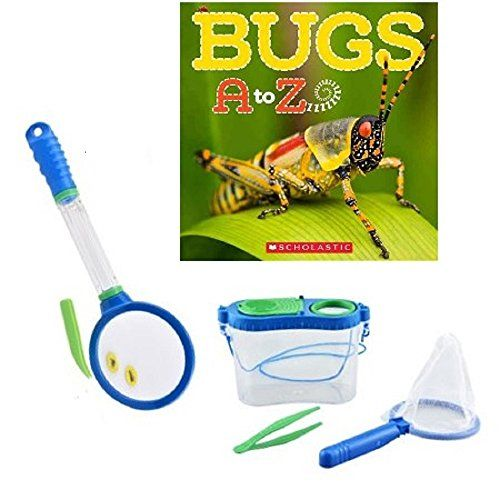 Backyard Explorer Bug Study Bundle Blue - Four Items: Bug Catching Kit, Magnifying Glass, and Bugs A to Z Book Backyard Travels & Scholastic http://www.amazon.com/dp/B00XM84ZZ8/ref=cm_sw_r_pi_dp_oWyHvb1P1956K