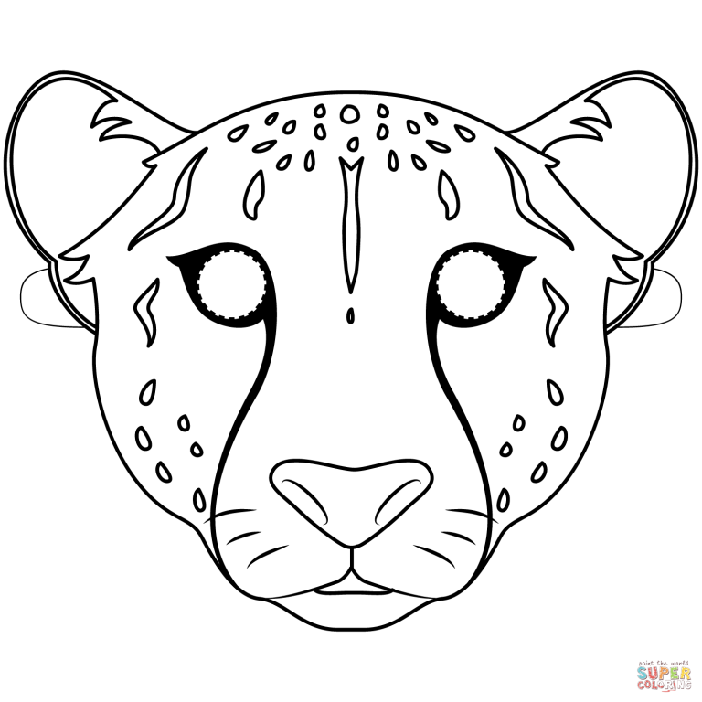 Free Printable Coloring Pages In Easy Paper Mask Cheetah Mask Template For Free Wit Free Printable Coloring Pages Animal Coloring Pages Free Printable Coloring