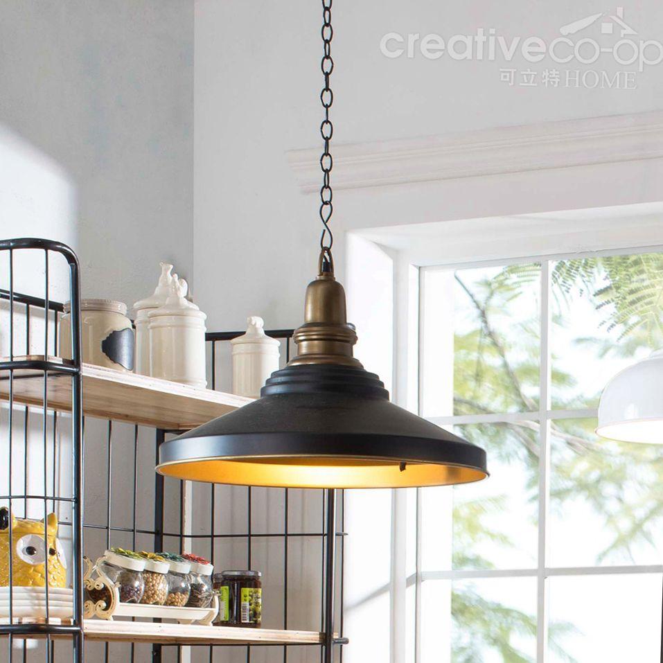 Black Metal Retro Pendant Lamp ☆ Creative Co-Op Home | Lighting ...