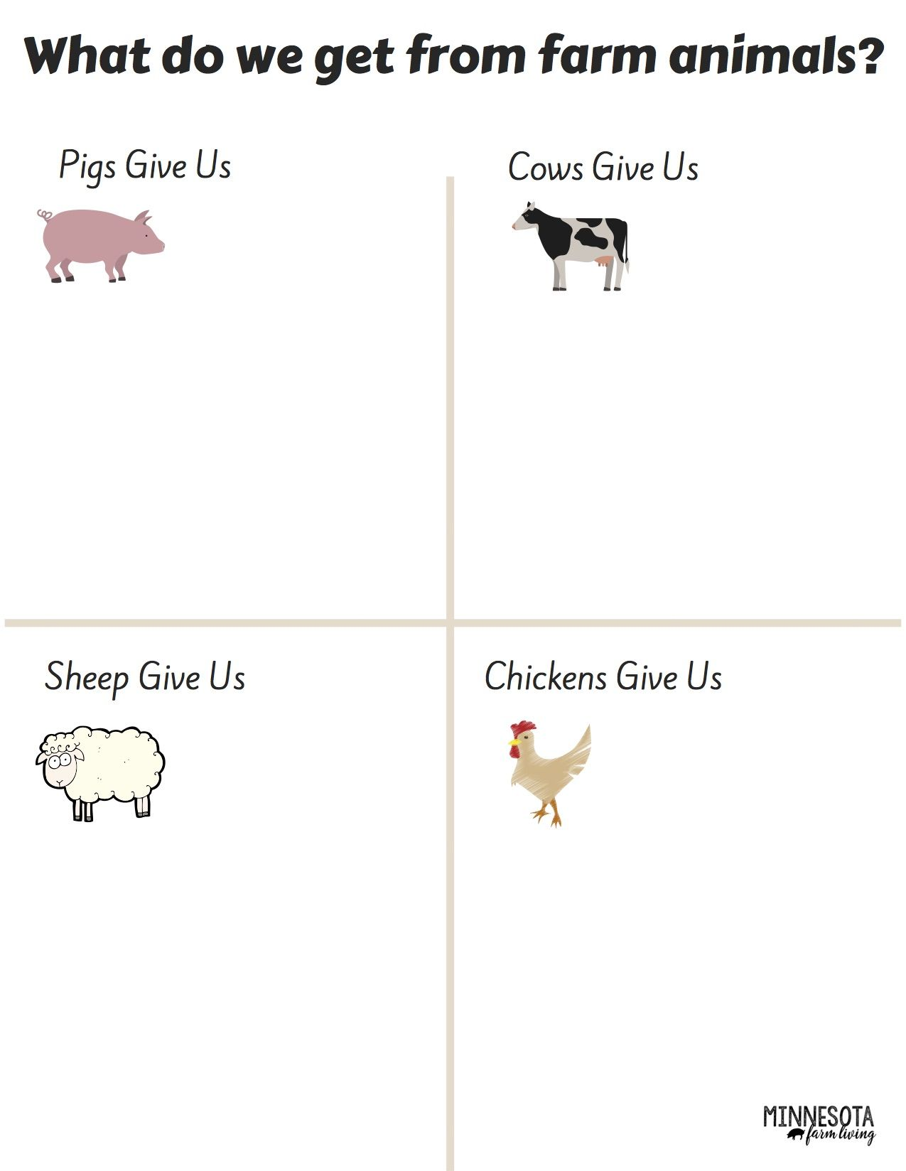 What Do Farm Animals Give Us Preschool With Images