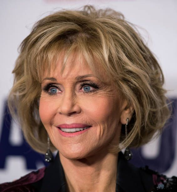 Wedding Hairstyle For Square Face: Jane Fonda, Los Angeles Times, November 24, 2015 In 2020