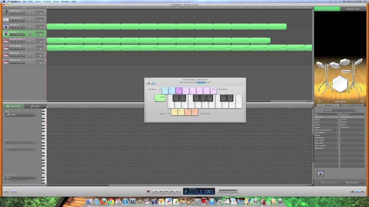 Garage Band tutorial 1 See Mrs. B for the Mac laptop