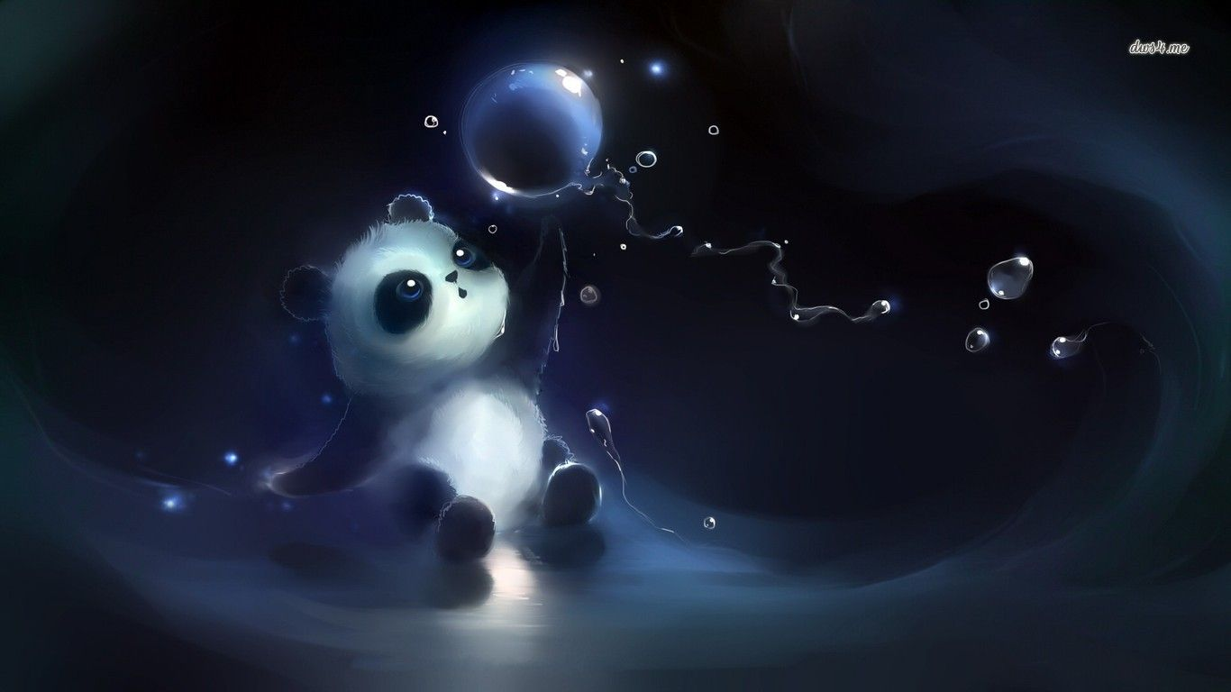 Cute Panda Playing With Bubbles Cute Panda Wallpaper Panda Wallpapers Cute Panda Cartoon