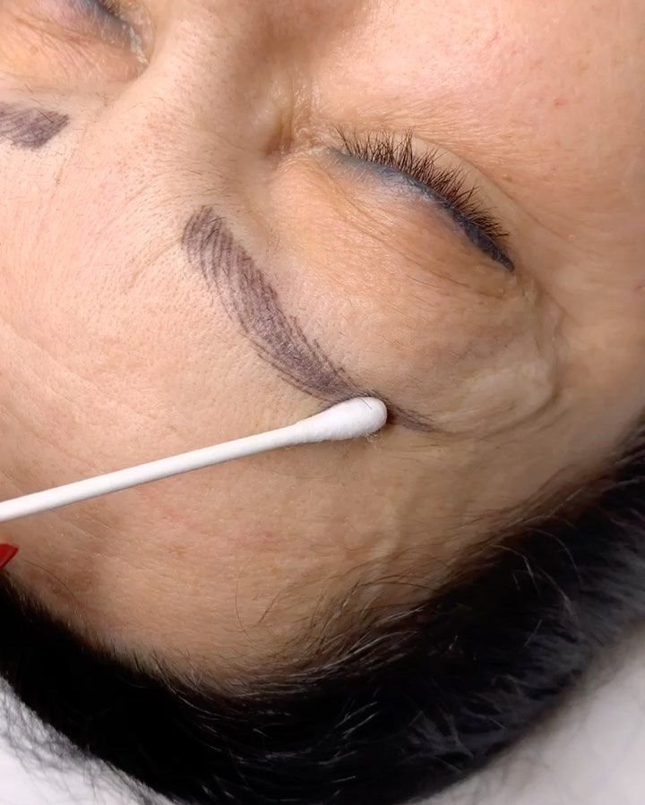 Tattoo removal cream?   HEALED EYEBROWS