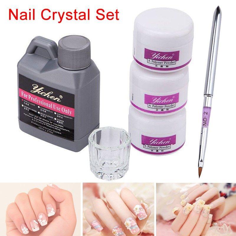 High Quality Hot Sale Acrylic Nail Art Diy Kit Liquid Powder Clear White Pink Basic Glass Dappen Dish Tool Nail Art Diy Diy Acrylic Nails Acrylic Nail Art