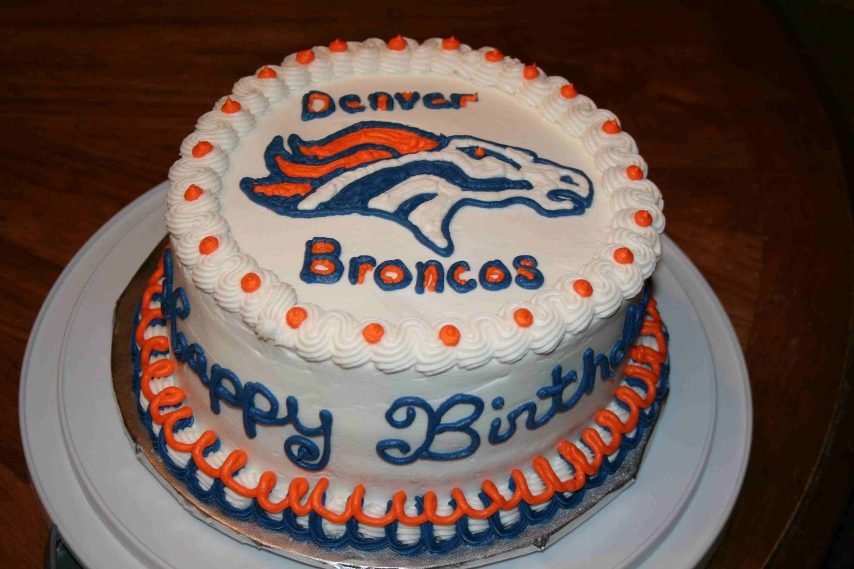 Outstanding Denver Broncos Broncos Cake Birthday Cards Printable Trancafe Filternl