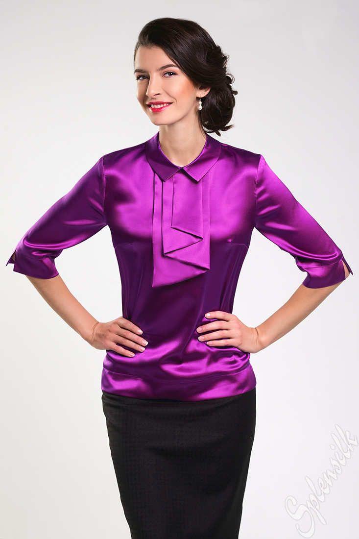 Pin de Emma Satin en Satin and silk blouses | Pinterest