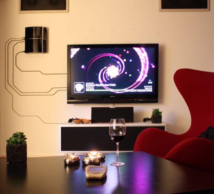 Como instalar fios aparentes na decoração | Sala TV ...