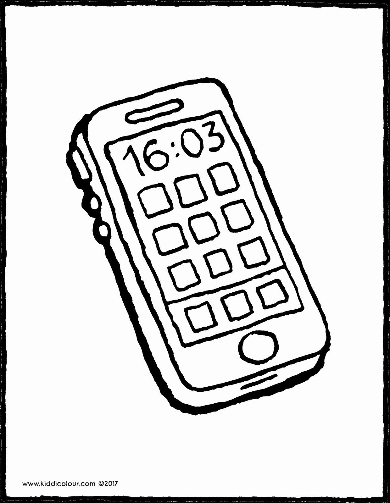 Cell Phone Coloring Page Elegant Mobile Phone Kiddicolour Coloring Pages Candy Coloring Pages Curious George Coloring Pages