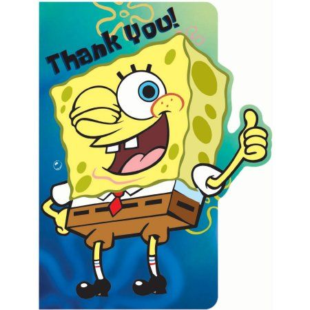 Spongebob Thank You Notes 8pk Multicolor Products In 2019