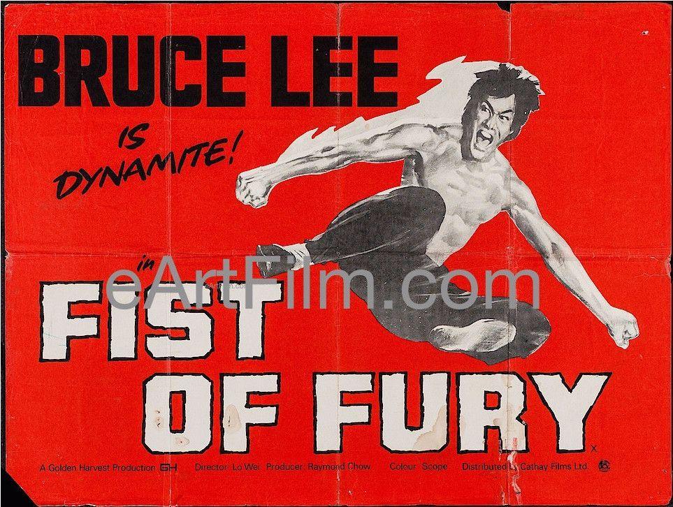 Fist Of Fury Bruce Lee Martial Arts Classic 1973 British Quad 30