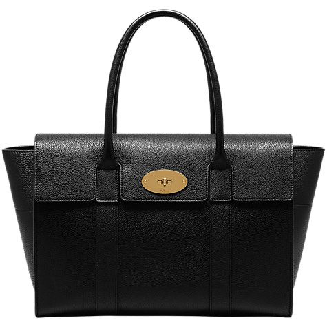 Buy Mulberry Bayswater New Classic Grain Leather Bag Online at johnlewis.com c73b806569102