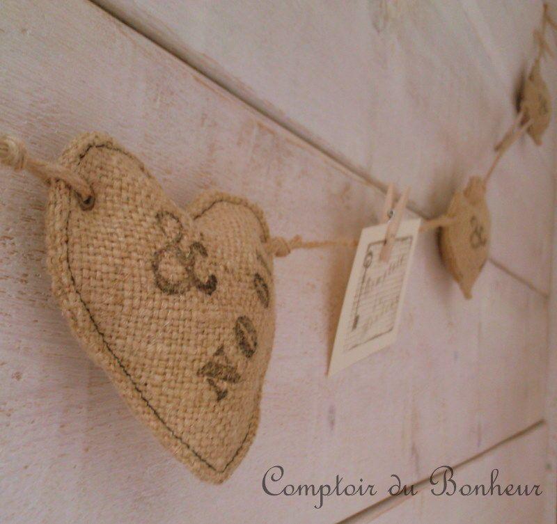du coeur et des mains comptoir du bonheur textiel naturel pinterest coeur. Black Bedroom Furniture Sets. Home Design Ideas