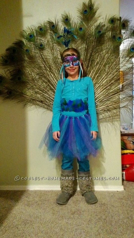 Peacock Costume Designed By A 7 Year Old Girl Peacock Halloween