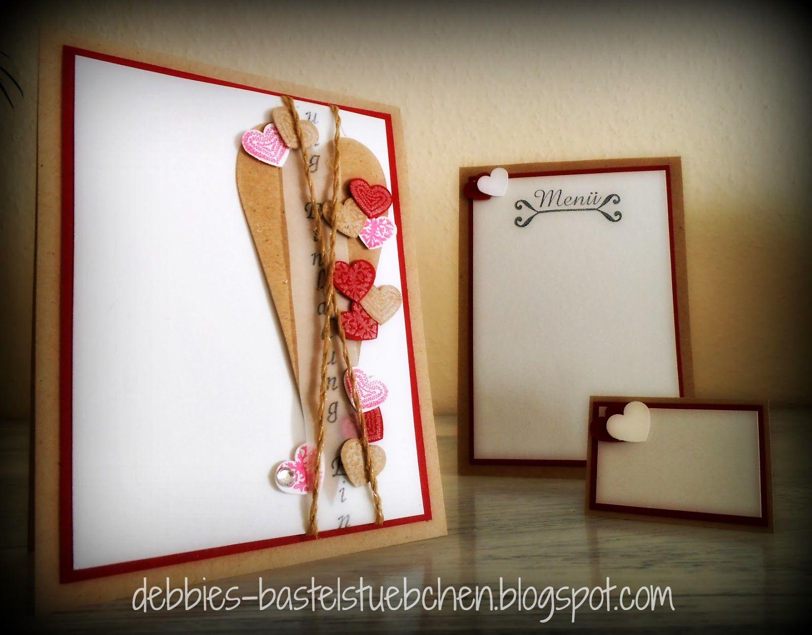 Debbies Bastelstübchen: Einladung Hochzeit Set 2 & 3