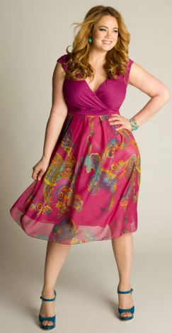 How cute would this be for #BlogHer12? Erica can totally see herself in this! Paisley Print Dress