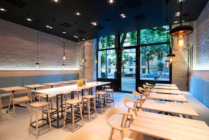 Greek Cuisine Restaurant Decor By Gasparbonta Interior Design