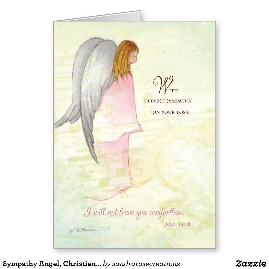 Religious Sympathy Quotes For Loss Of Mother: Sympathy Angel, Christian Religious, Scripture Greeting