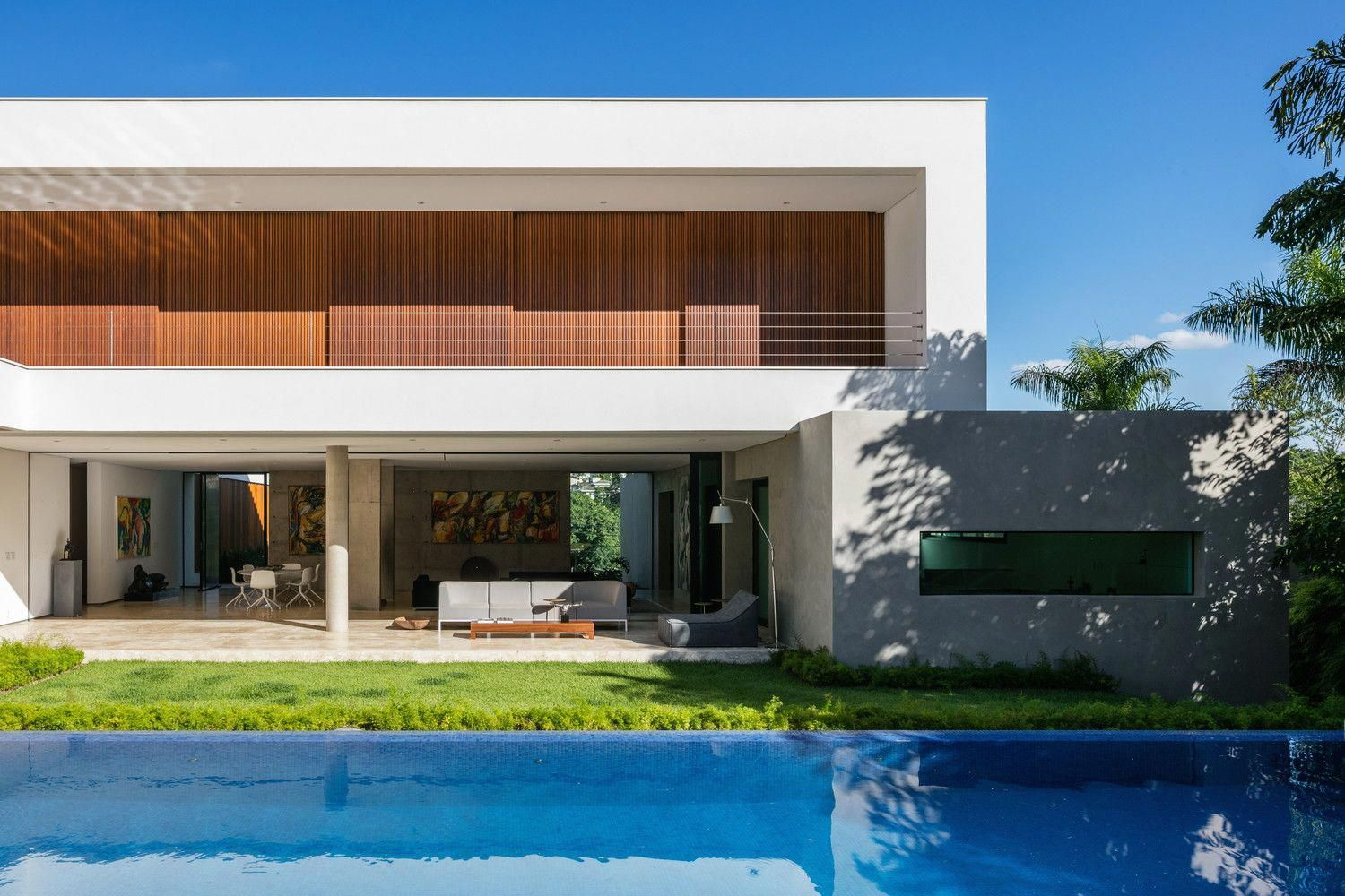 Residence design with pool and garden photography nelson kon architect padovani arquitetos associados location brazil unique artwork items also rh pinterest