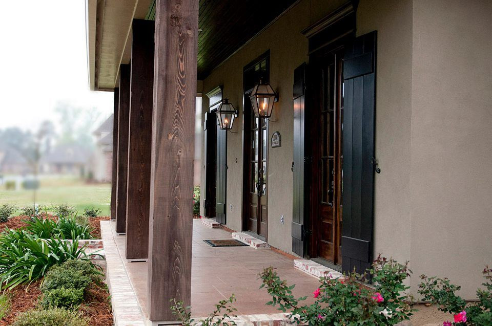 Love The Dark Stained Wood Columns For The Front Of The