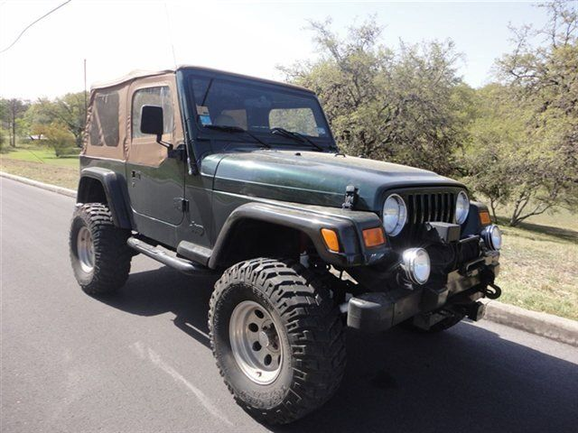 2001 Forest Green Pearl Jeep Wrangler Used Jeep Wrangler Jeep