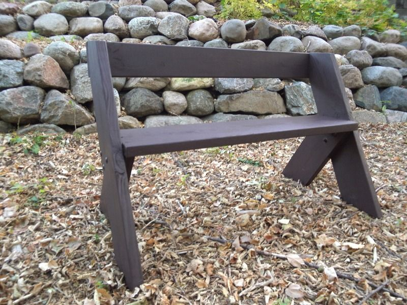 Leopold Bench Fire pit backyard trail bench Simple