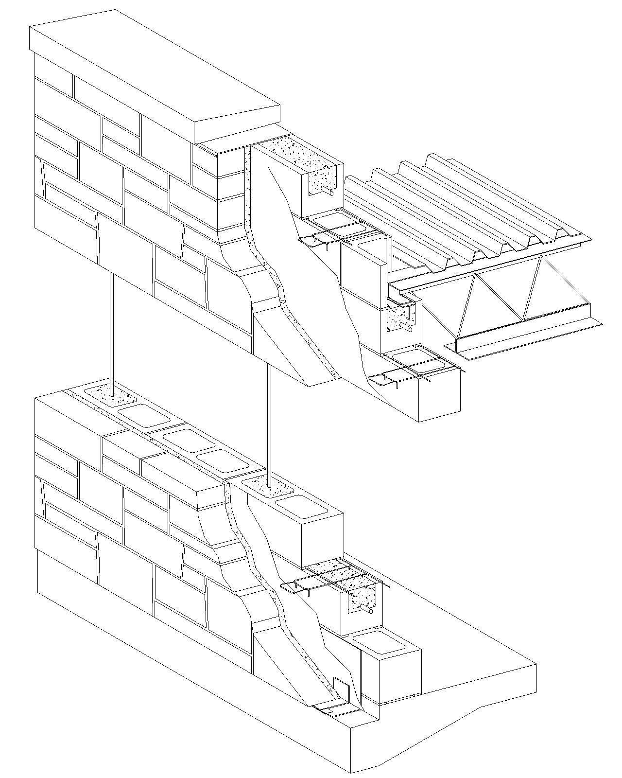Form Stone Wall In Plan Detail Drawing