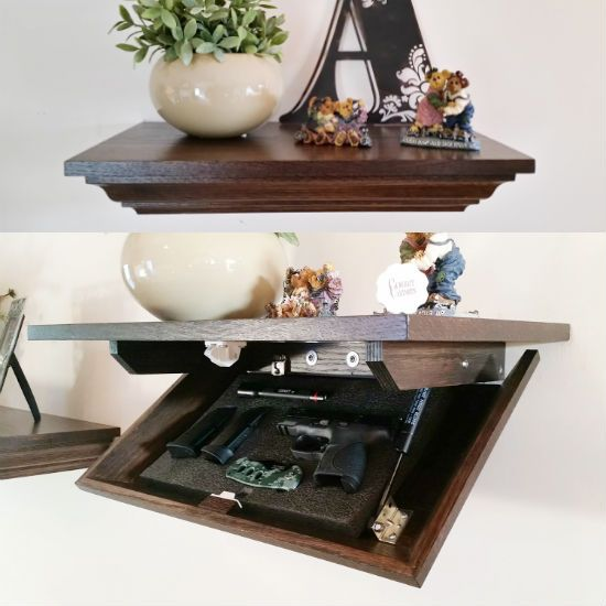 Hidden Gun Cabinet Wall Shelf | My husband | Pinterest | Hidden ...