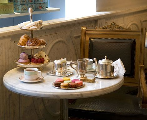 Tea at Laudree in Paris, France. You can't see me but I'm crying at my desk a little. #TravelFever