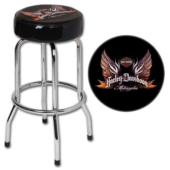 Harley Davidson 174 Eagle Wings Bar Stool Harley Furniture
