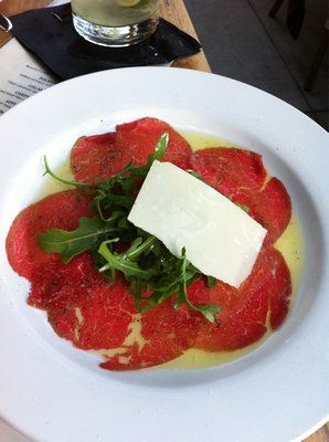 beef carpaccio from Caffe Roma