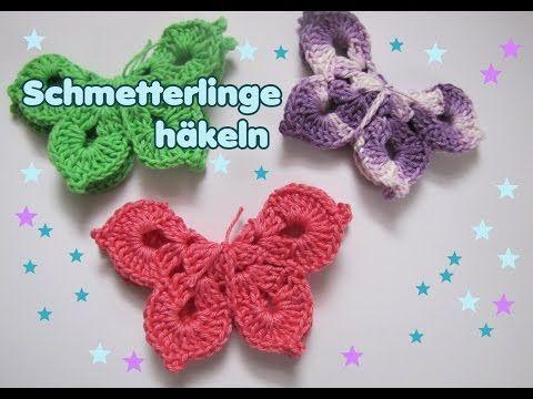 Photo of 3 D Schmetterling Häkelanleitung – Frühlingsdeko