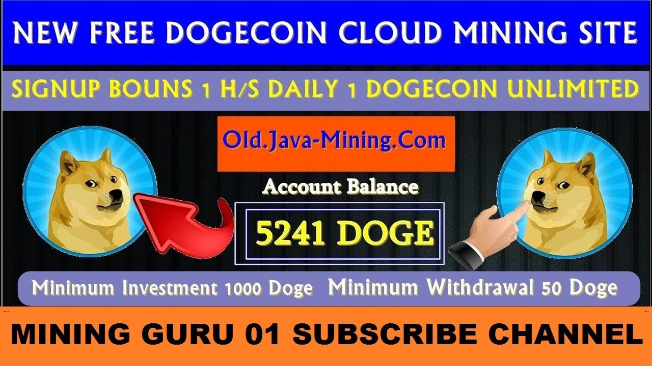 New Online Earning Site New Free Dogecoin Cloud Mining Site 2020 1 Online Earning Sites Cloud Mining Online Earning