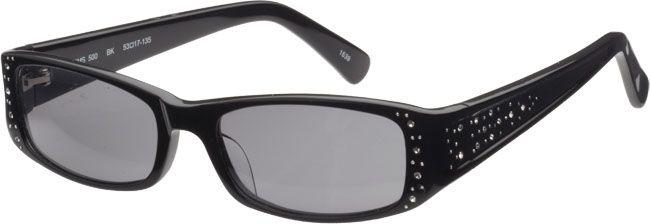 5ab77d58392 SUNGLASSES Chelsea Morgan Black Rectangle Frames for Women ...