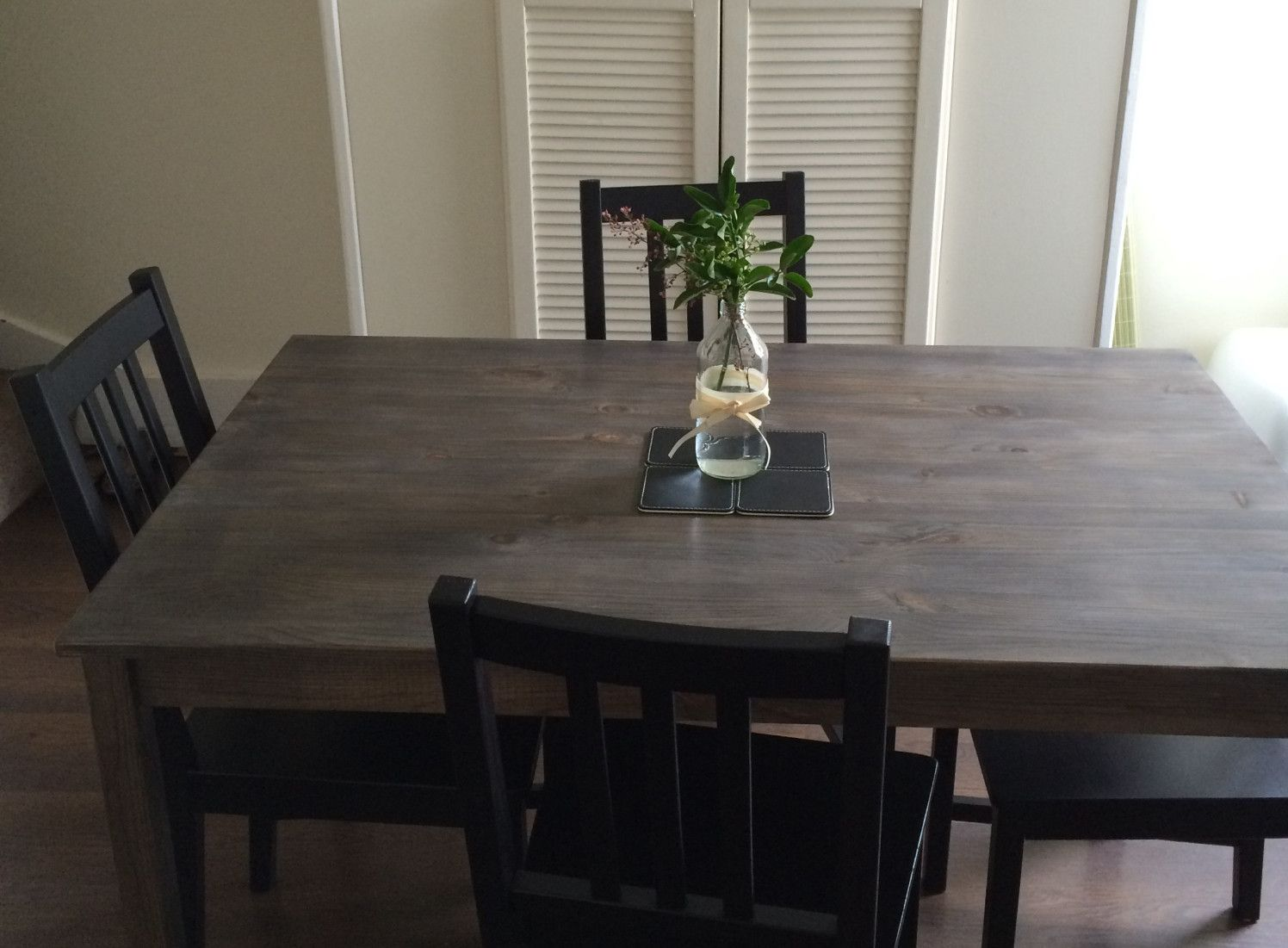 staining INGO table from IKEA perfect marriage of grey