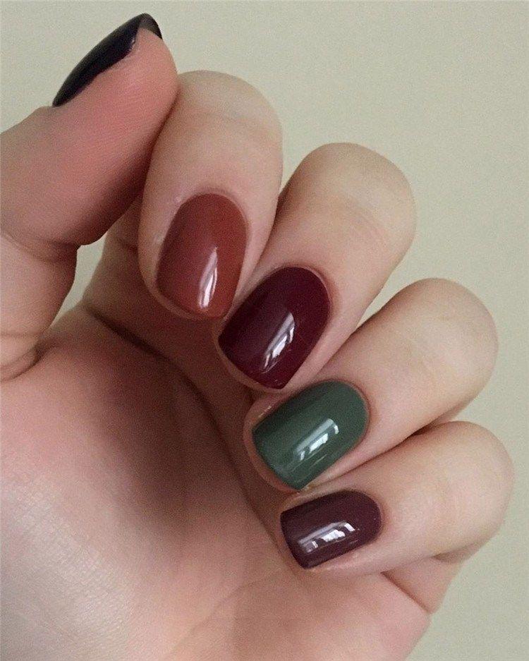 Gel Nail Ideas For Fall Autumn Nail Designs Autumn Fall Nail Colors Acrylic Nails Designs For Fall N Classy Nail Designs Nail Designs Elegant Nail Designs