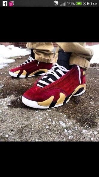 75d08cb948c shoes air jordans 14 retro jordans velvet red