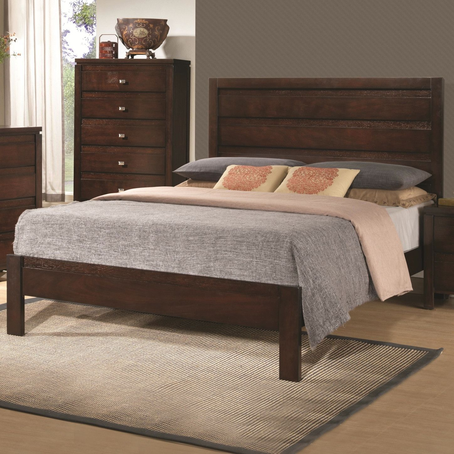 Cameron 3pc Queen Bedroom Set Rich Brown Co 203491q Bnc For The