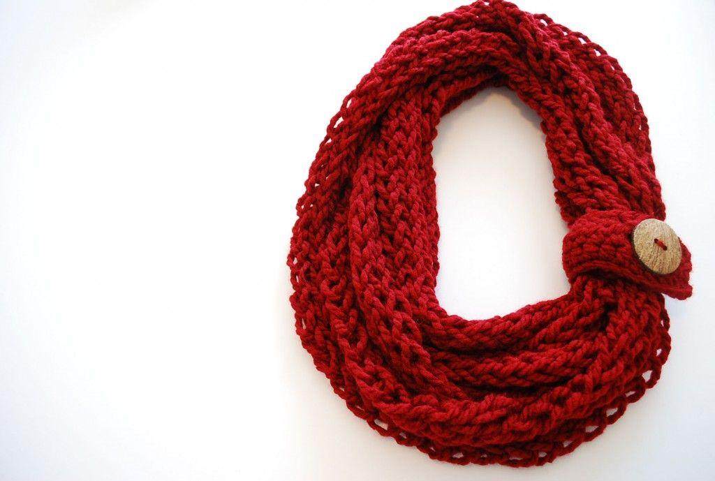 Finger Knit Infinity Scarf Crochet Infinity Scarf Free Pattern