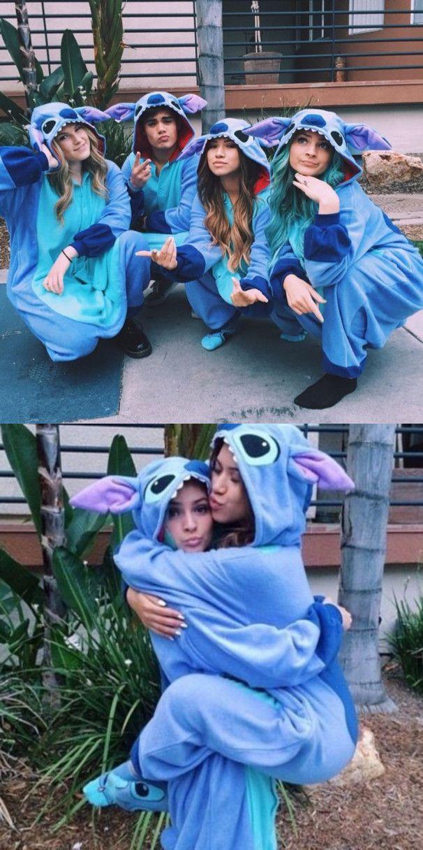 Disney Lilo   Stitch One-piece Flannel Pajamas from modsele  7adc06716344