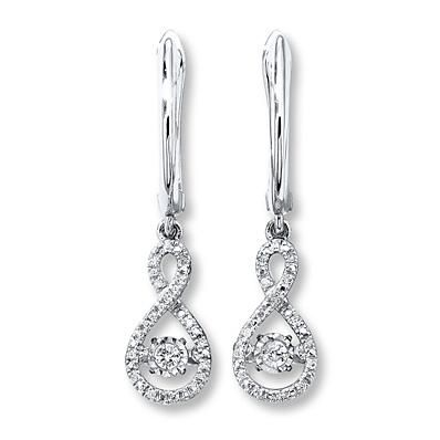 Diamonds In Rhythm 1 5 Ct Tw Earrings 10k White Gold