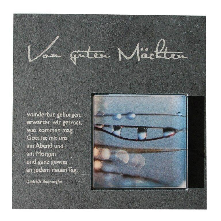 Wandrelief Von Guten Machten 17 Cm Schiefertafel Dietrich Bonhoeffer Trauerspruche Dietrich Bonhoeffer Glaube An Gott