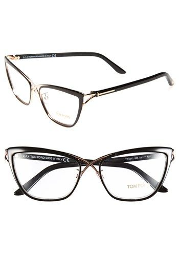 6e6d92cdecee Free shipping and returns on Tom Ford 53mm Crossover Optical Glasses at  Nordstrom.com. Signature metal T hardware trims the temples of tipped-up  Italian ...